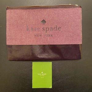 New Kate Spade Ash Street Zippered Pouch